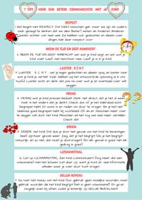 tips voor communicatie met je kind