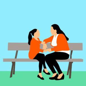 moeder en dochter gesprek