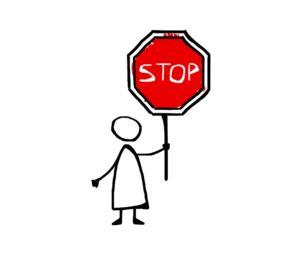 stop, grenzen